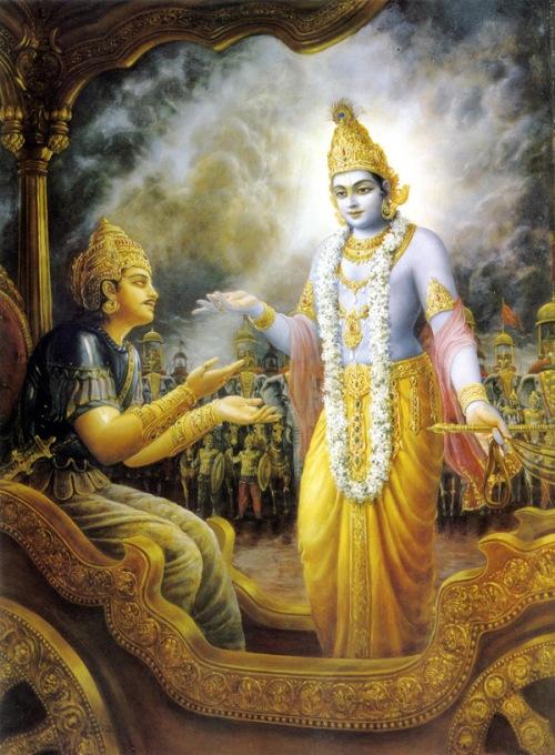 Shri krishna comes to help Arjuna